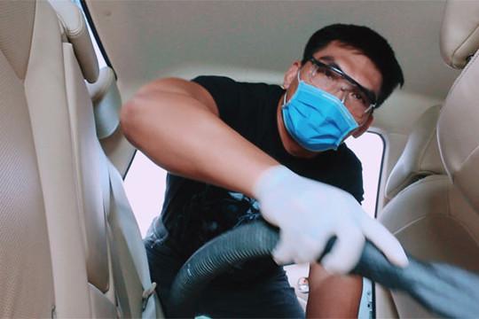 """Diễn viên """"Cha cõng con"""" đóng MV dạy cách rửa xe mùa Covid"""
