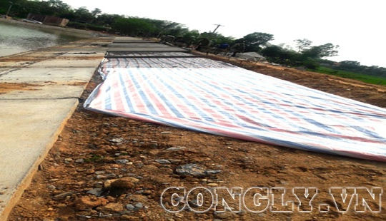 Huyện Tân Kỳ - Nghệ An: Nhiều băn khoăn, lo lắng về chất lượng tại công trình gia cố đập 39