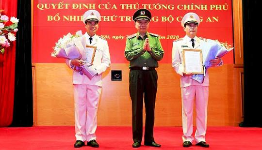 Hai Thiếu tướng nhận quyết định bổ nhiệm làm Thứ trưởng Bộ Công an