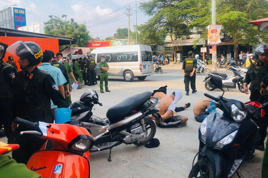 Hàng trăm cảnh sát Đồng Nai truy bắt nhóm giang hồ thu tiền bảo kê vùng ven khu công nghiệp