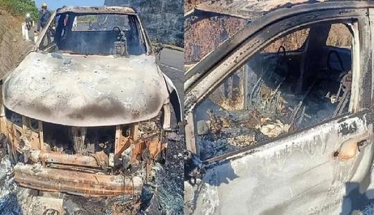 Vụ giết người, đốt xe ở Đắk Nông: Bắt Bí thư xã là nghi can giết người