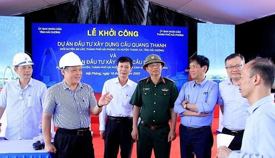 Hải Phòng - Hải Dương: Khởi công cầu Quang Thanh và cầu Dinh gần 700 tỷ