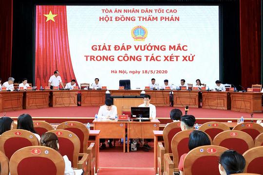 Hội nghị giải đáp vướng mắc thi hành pháp luật về hình sự, dân sự và hành chính
