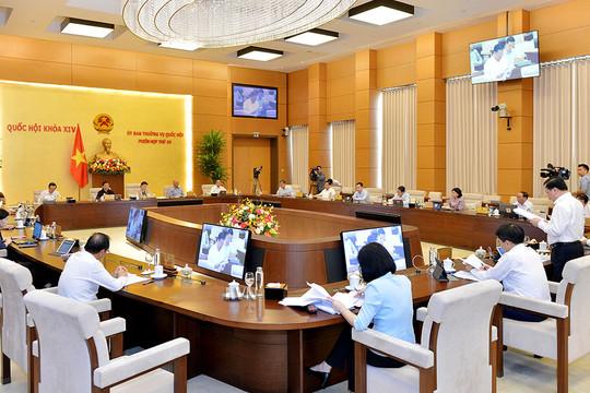 Ủy ban Thường vụ Quốc hội bắt đầu họp đợt 2, phiên họp thứ 45