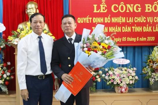 Bổ nhiệm lại chức vụ Chánh án TAND Đắk Lắk