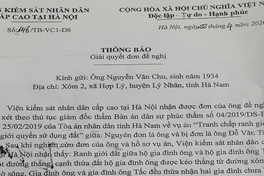 """Thông tin """"đương sự tự thiêu vì bản án của Tòa án ở Hà Nam"""" là hoàn toàn sai sự thật"""