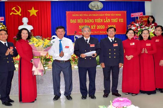 TAND tỉnh Tây Ninh tổ chức thành công Đại hội Đảng bộ