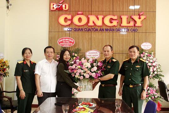 Các đơn vị TANDTC chúc mừng Báo Công lý nhân Ngày Báo chí Cách mạng Việt Nam