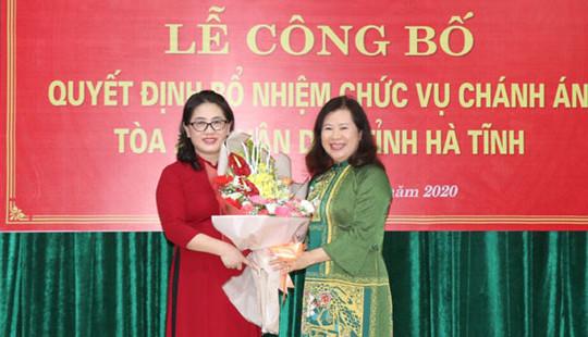 Trao quyết định bổ nhiệm chánh án TAND tỉnh Hà Tĩnh