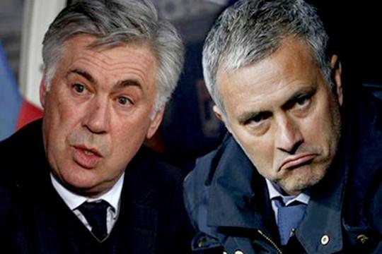 Mourinho may mắn chiến thắng trong cuộc đối đầu nảy lửa với Ancelotti