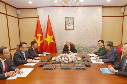 Tổng Bí thư, Chủ tịch nước Nguyễn Phú Trọng điện đàm với Thủ tướng Campuchia