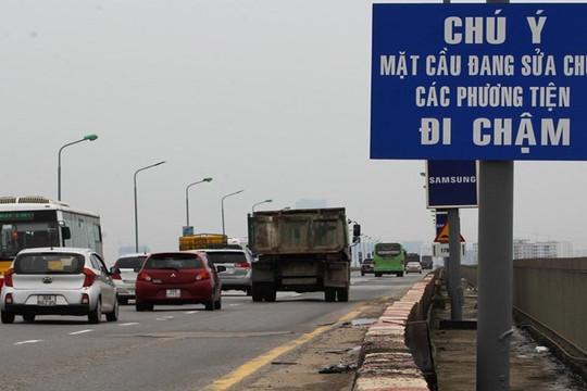 Đề xuất cấm tuyệt đối các phương tiện giao thông trên tầng 2 cầu Thăng Long từ ngày 6/8