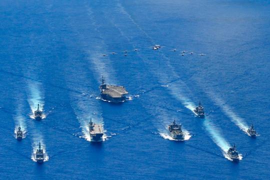 """Úc, Nhật Bản và Mỹ tham gia vào cuộc """"tập trận ba bên"""""""