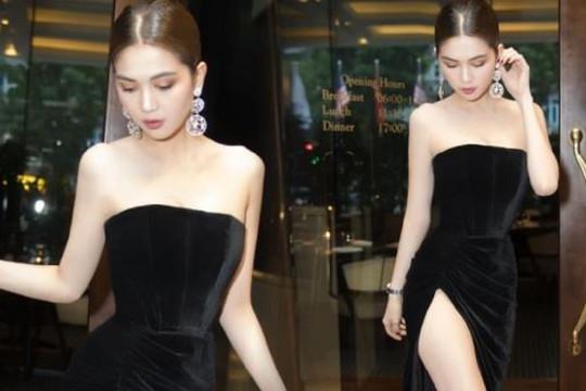 Diện váy xẻ khoe chân dài như sao Việt