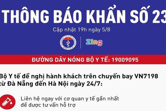 Thông báo khẩn tìm hành khách chuyến bay từ Đà Nẵng đến Hà Nội