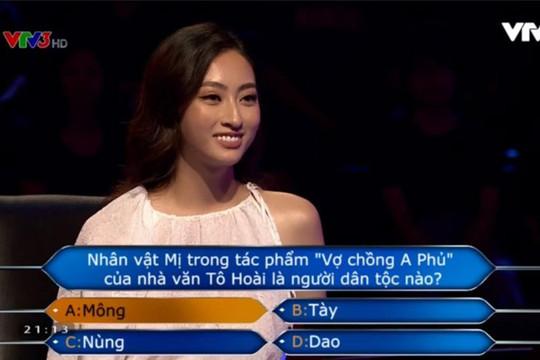 Hoa hậu Lương Thuỳ Linh thể hiện bản lĩnh khi tham gia Ai là triệu phú