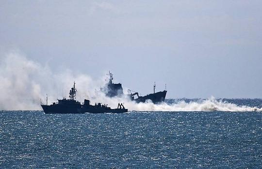 Tàu quét mìn của Hải quân Nga tập trận ở Địa Trung Hải