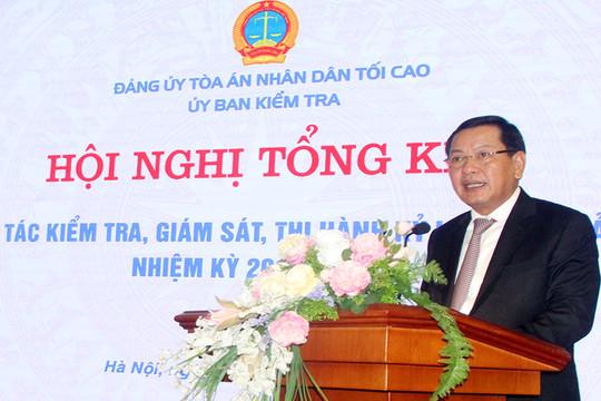 Hội nghị tổng kết công tác kiểm tra, giám sát và thi hành kỷ luật của Đảng nhiệm kỳ 2015-2020