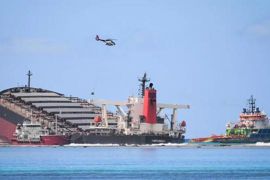 Các chuyên gia Liên hiệp quốc đến Mauritius hỗ trợ sự cố tràn dầu
