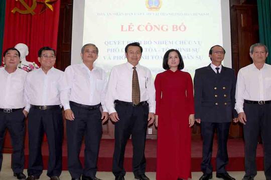 TAND cấp cao tại TP Hồ Chí Minh bổ nhiệm lãnh đạo Tòa chuyên trách