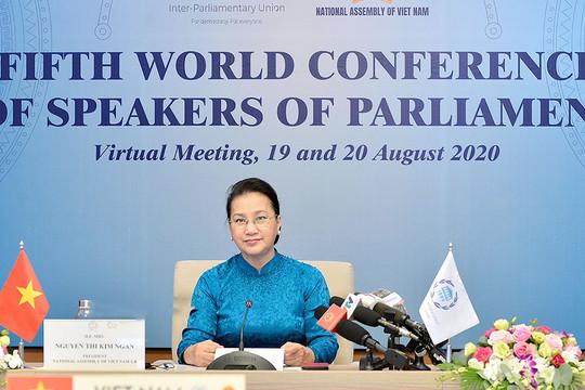 Bà Nguyễn Thị Kim Ngân dự Hội nghị các Chủ tịch Quốc hội Thế giới lần thứ 5