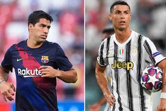 Ngoài Messi, Juventus muốn mời Luis Suarez về làm đồng đội của Ronaldo