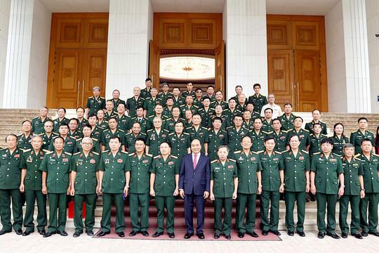 Thủ tướng tiếp Đoàn Anh hùng lực lượng vũ trang, tướng lĩnh, sĩ quan Cục Tác chiến