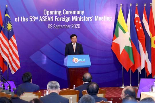 Hội nghị Bộ trưởng Ngoại giao ASEAN lần thứ 53 chính thức khai mạc