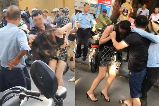 Công an điều tra vụ đánh ghen giữa phố Hà Nội