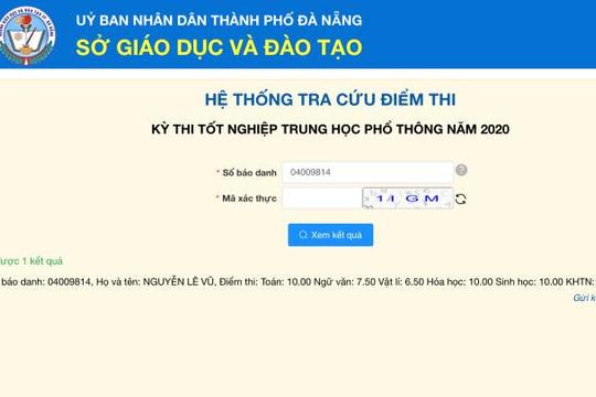 Thí sinh Đà Nẵng trở thành thủ khoa khối B toàn quốc năm 2020