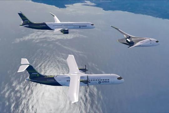 Airbus đặt mục tiêu sử dụng máy bay thương mại chạy bằng hydro vào năm 2035
