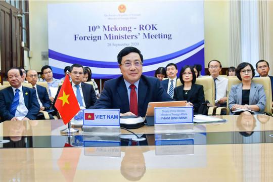 Việt Nam đồng chủ trì Hội nghị Bộ trưởng Ngoại giao Mekong-Hàn Quốc lần thứ 10