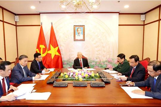 Tổng Bí thư, Chủ tịch nước Nguyễn Phú Trọng điện đàm với Tổng Bí thư, Chủ tịch Trung Quốc