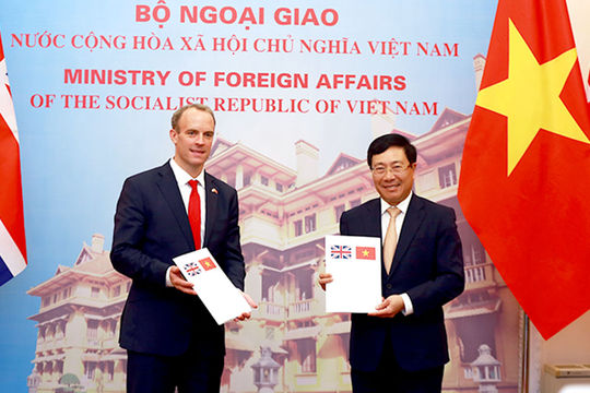 Việt Nam-Anh ra Tuyên bố chung về quan hệ đối tác chiến lược