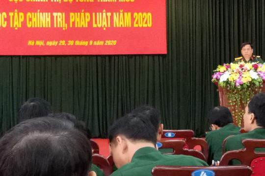 Cục Chính trị - Bộ Tổng tham mưu tổ chức Hội nghị học tập Chính trị, pháp luật năm 2020