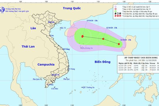 Bão số 6 vừa tan, lại hình thành một áp thấp nhiệt đới mới trên Biển Đông