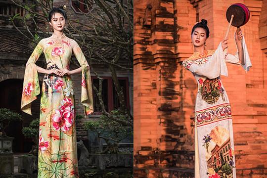 NTK Đỗ Trịnh Hoài Nam 'chơi lớn' dát vàng lên 26 chiếc nón lá ở Lễ hội Áo dài