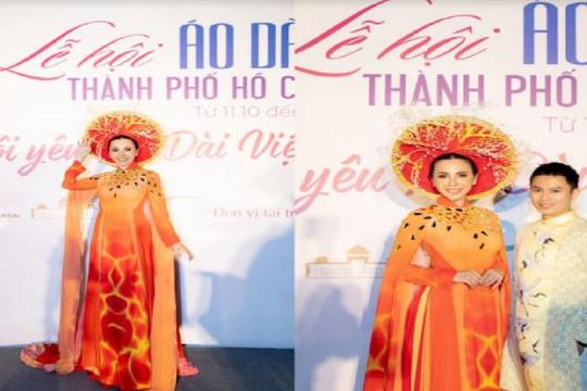 Bất ngờ khi Hoa hậu Châu Ngọc Bích làm vedette tại Lễ hội áo dài 2020