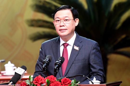 Ông Vương Đình Huệ tái đắc cử Bí thư Thành ủy Hà Nội với 100% số phiếu tán thành