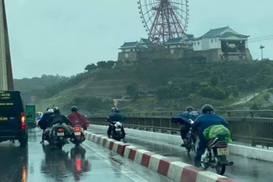 Ảnh hưởng bão số 7, Quảng Ninh cấm một chiều cầu Bãi Cháy