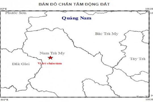 Xảy ra liên tiếp 4 trận động đất ở Quảng Nam