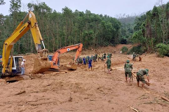13 thi thể cán bộ chiến sỹ đoàn công tác gặp nạn đã được tìm thấy