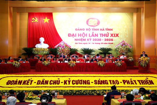 Khai mạc Đại hội đại biểu Đảng bộ tỉnh Hà Tĩnh lần thứ XIX, nhiệm kỳ 2020 – 2025