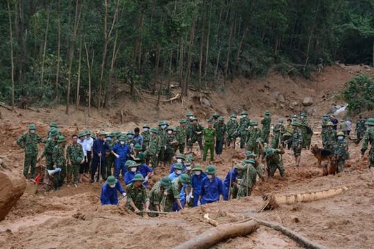Vụ sạt lở Thủy điện Rào Trăng 3: Thi thể Phó Tư lệnh Quân khu 4 đã được tìm thấy