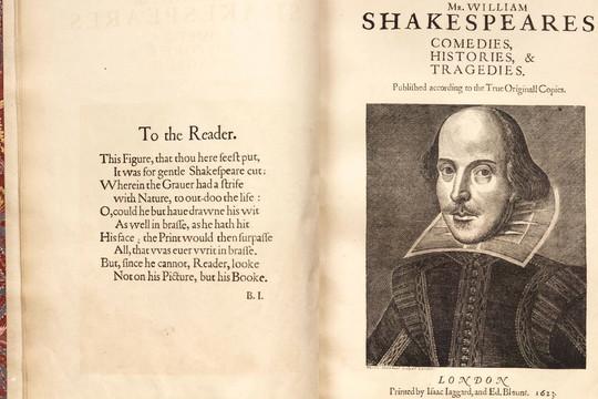 Bản sao tuyển tập kịch của Shakespeare đạt kỷ lục đấu giá gần 10 triệu USD