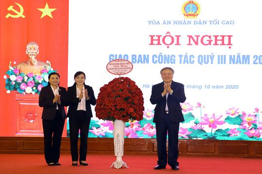 TANDTC tổ chức Lễ kỷ niệm 90 năm ngày thành lập Hội LHPN Việt Nam