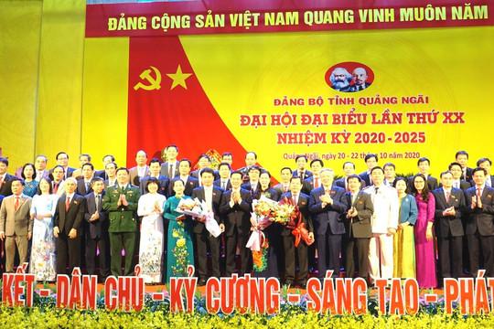 Bế mạc Đại hội đại biểu Đảng bộ tỉnh Quảng Ngãi lần thứ XX, nhiệm kỳ 2020-2025