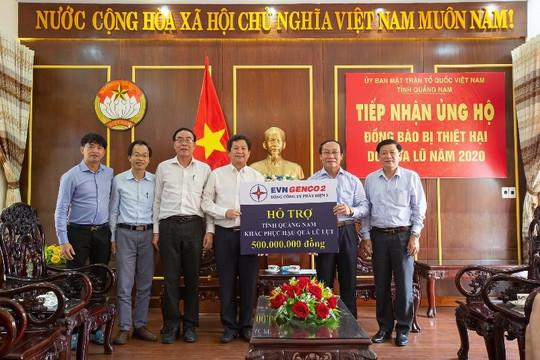 Mưa lũ miền Trung, GENCO 2 hỗ trợ đồng bào miền Trung 1 tỷ đồng