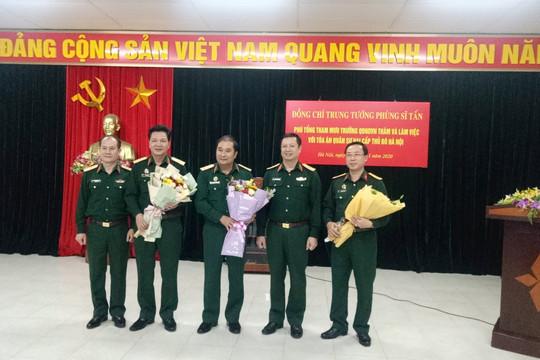Thủ trưởng Bộ Tổng tham mưu làm việc với TAQS Thủ đô Hà Nội