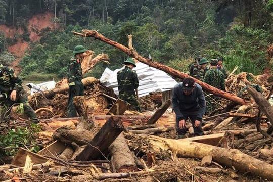 Tạm dừng tìm kiếm 4 nạn nhân mất tích ở Phước Sơn để tránh bão số 10